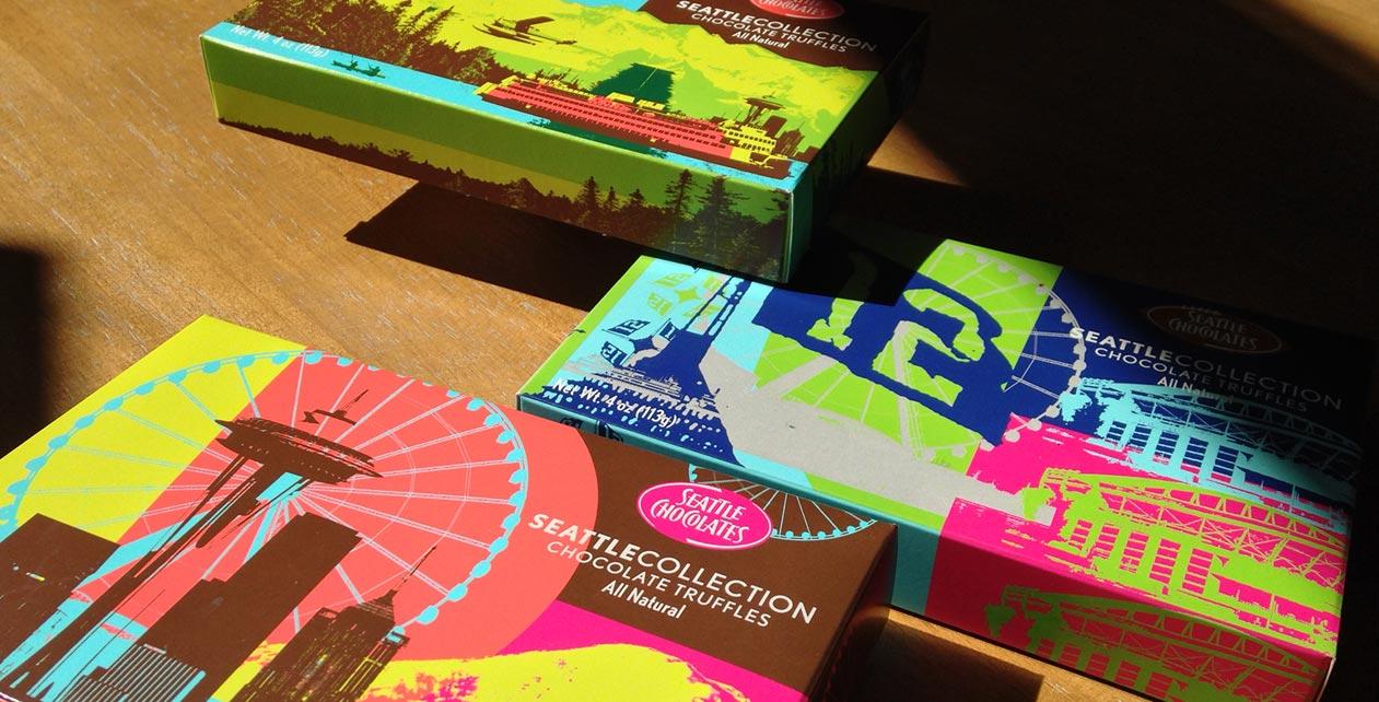 Seattle Chocolates Print Design