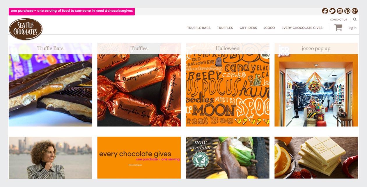 Seattle Chocolates Web Design