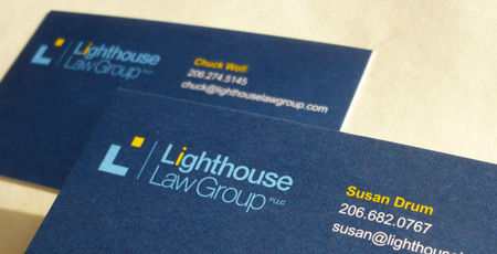 Design hovie studios inc logo lighthouse law group seattle lighthouse law group business card and brand identity colourmoves